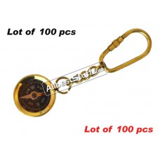 Vintage Antique Nautical Brass Compass Key-Chain lot of 100pcs