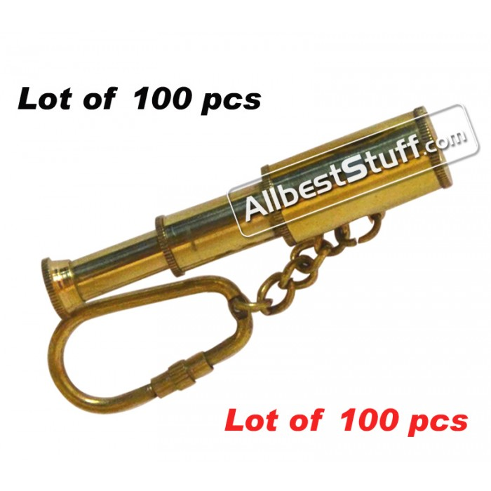 Vintage Nautical Brass Telescope Key-Chain lot of 100pcs