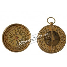 Nautical Antique Decor Brass Maritime Sundial Compass