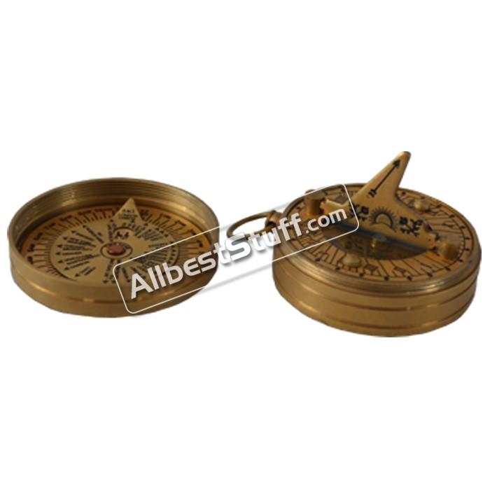 Nautical Antique Decor Brass Maritime Sundial Compass
