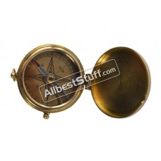 Vintage Maritime Antique Style Flat Nautical Camping Compass