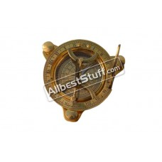 Antique Maritime West~London Vintage Brass Nautical Sundial Compass