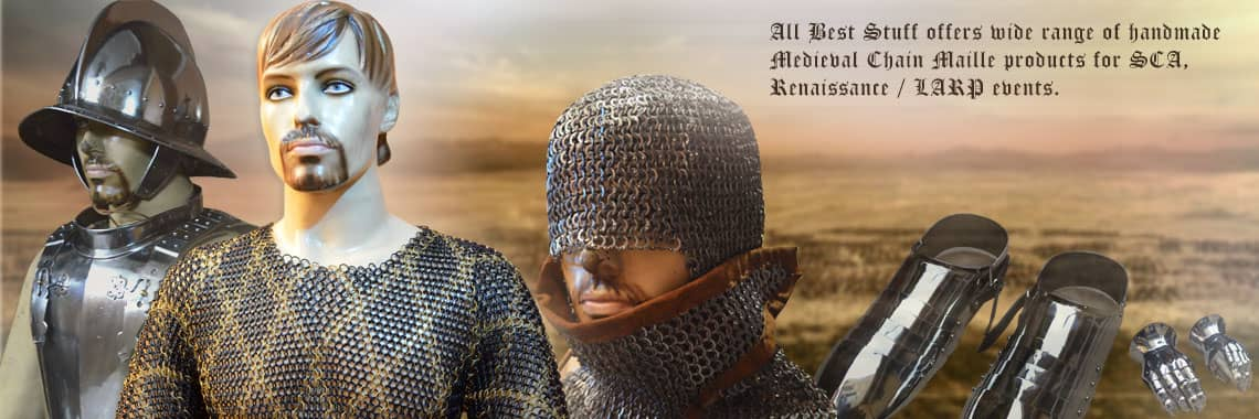 Wide range of chain maille products