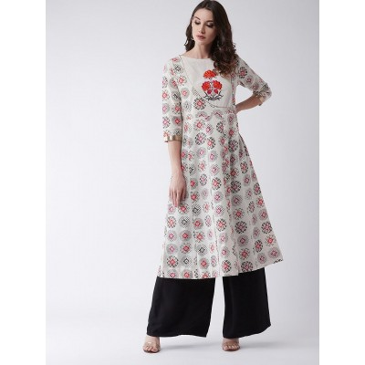 Embroidered Flared Kurta